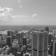 sydney tower black&white