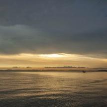 Otres beach sun goes down