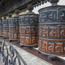 Kathmandu-Swayambhu temple rolls