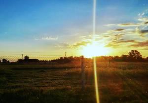 Sonnenuntergang bei Buenos Aires