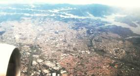 Flug über Sao Paulo