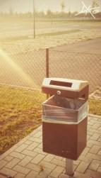 Sauberer Mülleimer am BER