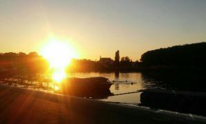 Sonnenuntergang-Saale-Kanutour-Calbe