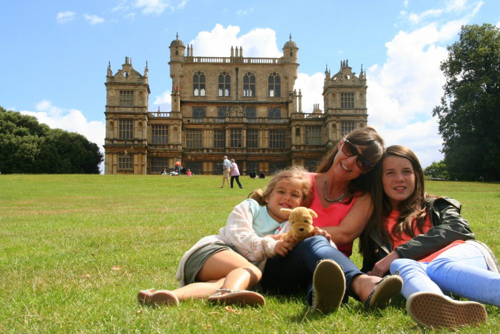us in front of Wollaton Hall