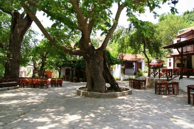 Megalos prinos - mountain village in Thassos