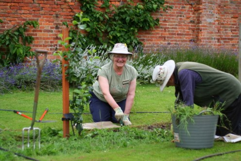national trust gardener volunteers at clumber park Nottingham