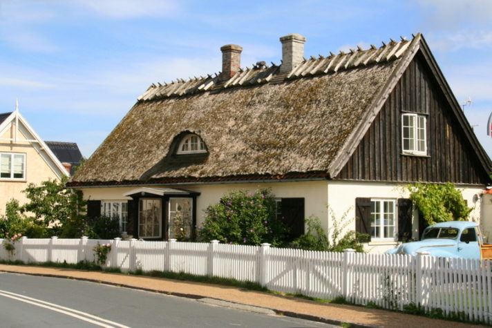 The countryside around North Sealand in Denmark is full of beauty, this little quaint thatched cottage is typical of the kind of buildings you see as you visit the little towns on the coast and in land