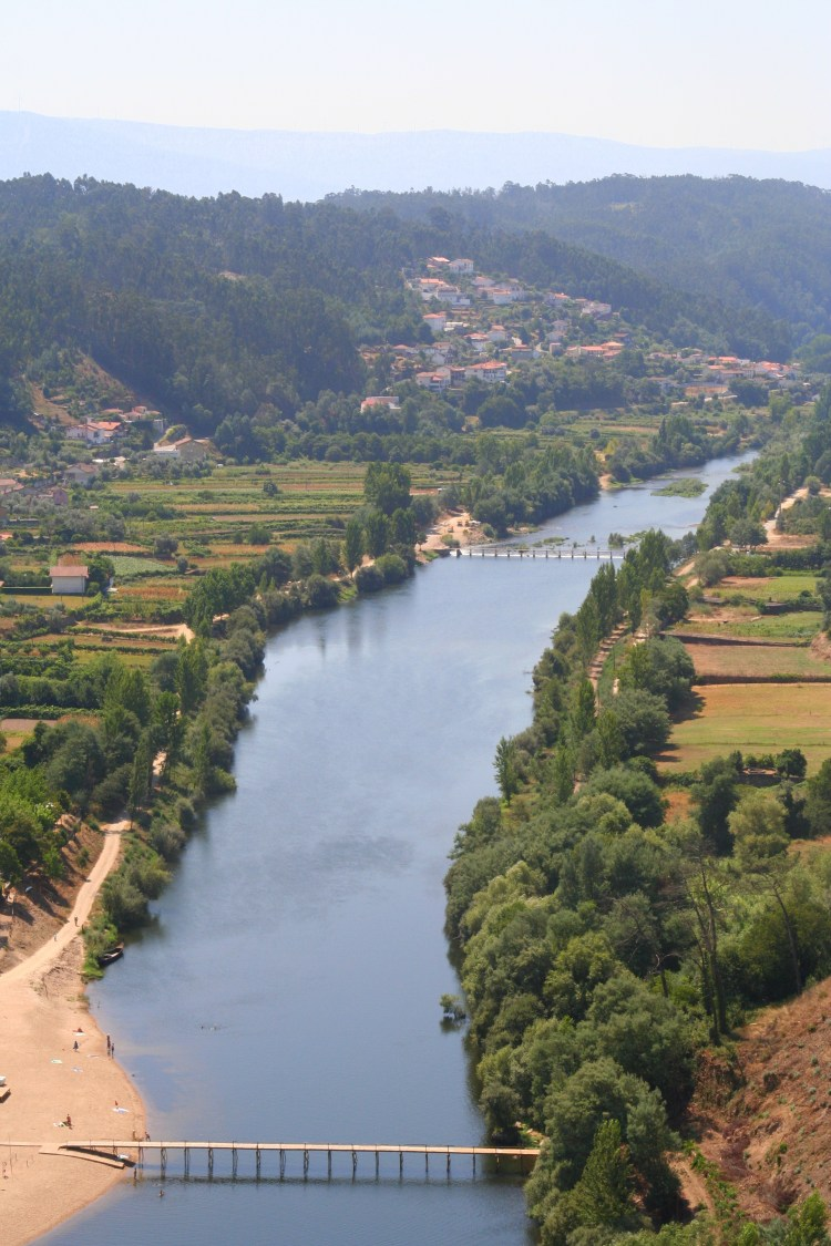 View of the Mondego river from Penacova, Portugal