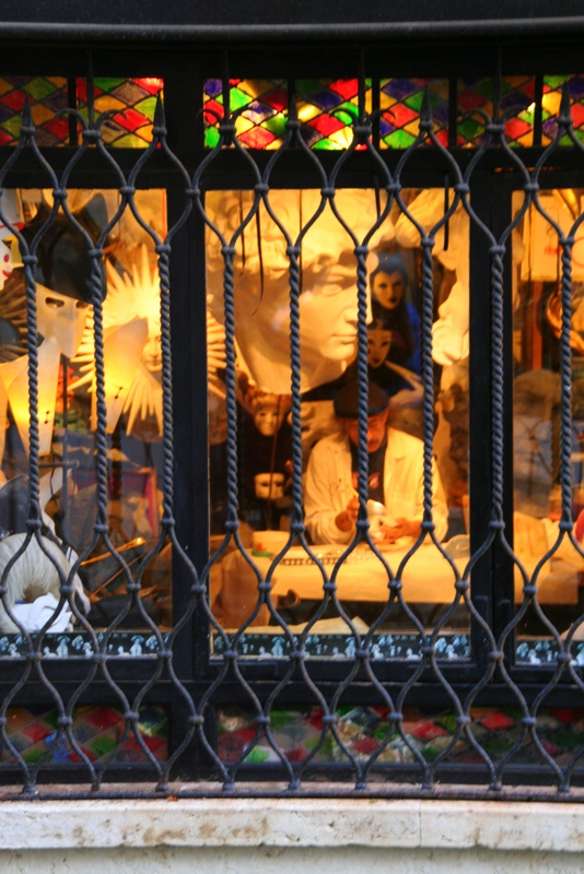 A mask maker in the Castello area of Venice