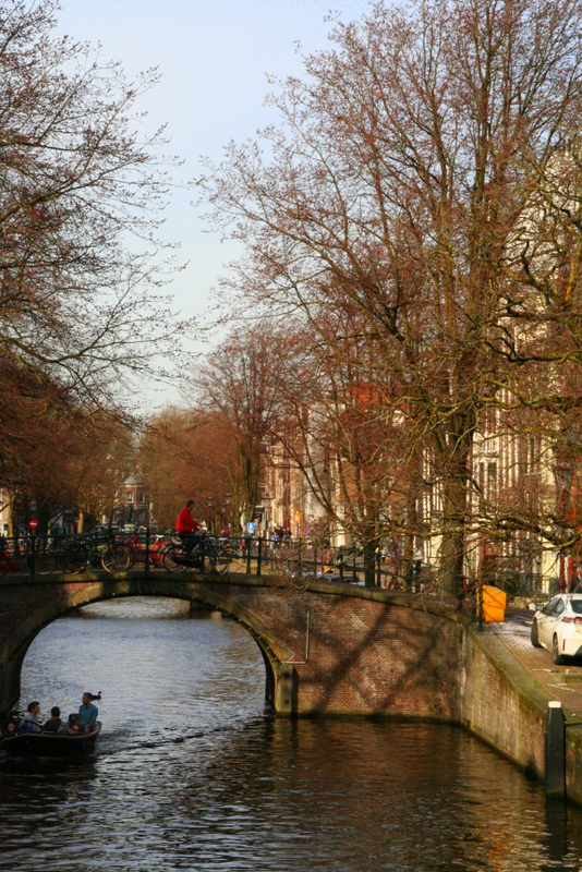 Do a walking tour in Amsterdam and see the beautiful bridges and stunning architecture around the little canals