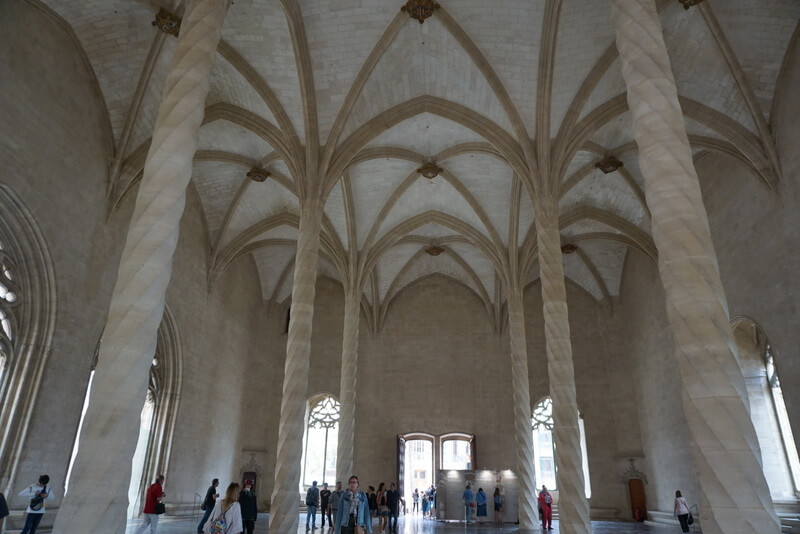 La lonja - the merchants hall in Palma is one of the must see tourist attractions in the city.