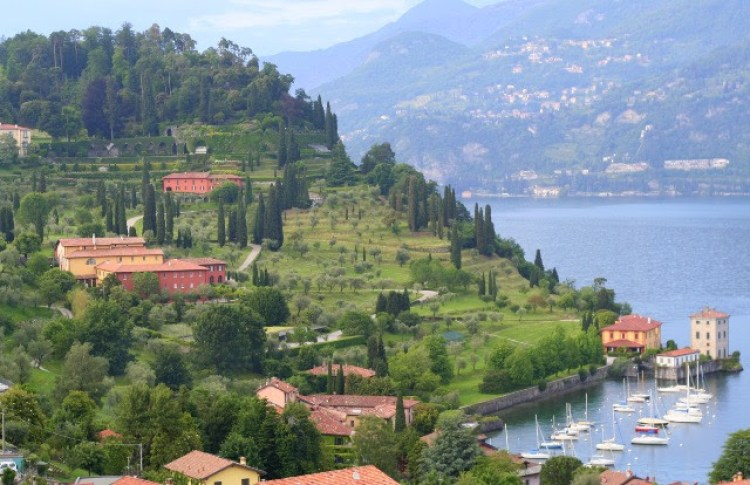 A view of Lake Como from Bellagio, Italy. Places to stay Lake Como Italy