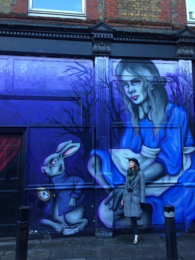 Londons famous street art can be found around Brick Lane