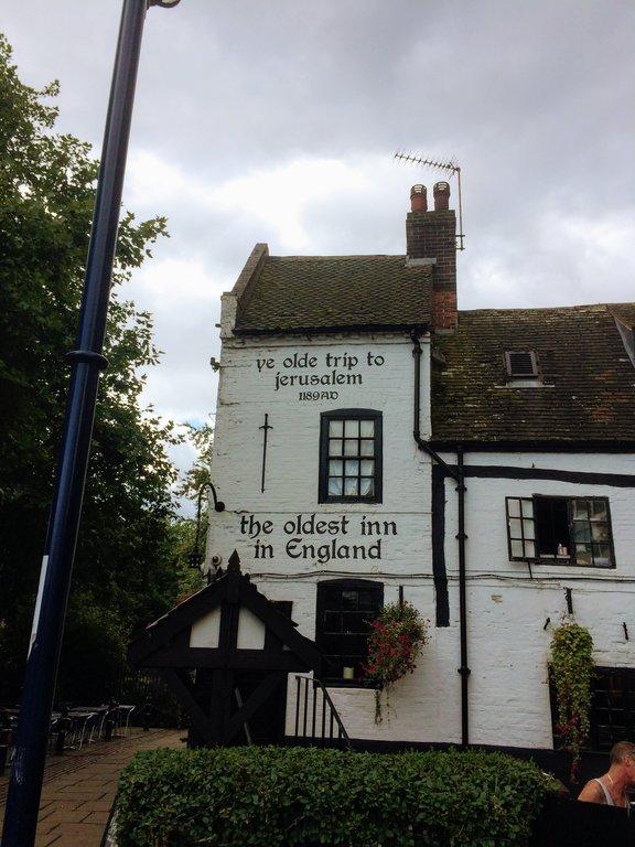 oldest pub in England - Ye Olde trip to jerusalem Nottingham