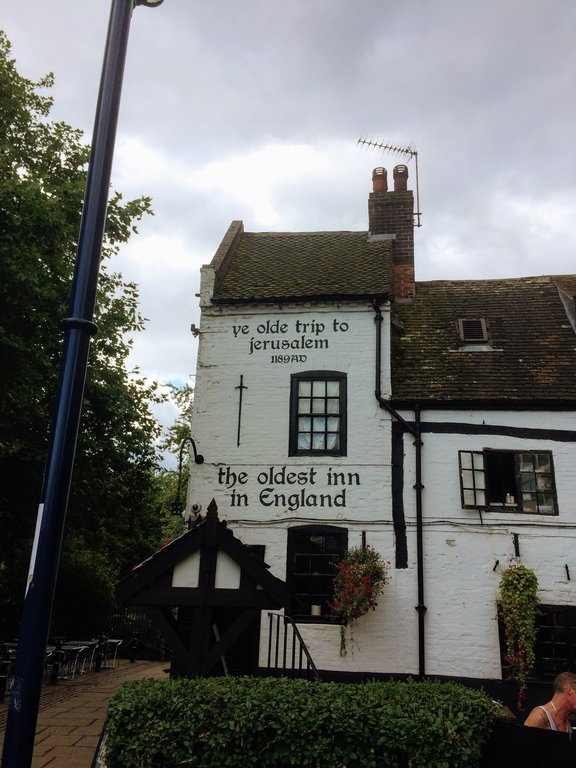 oldest pub in England - Ye Olde trip to jerusalem Nottingham