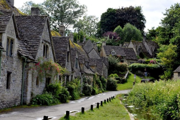 Arlington Row in Bibury is the most photographed street in England