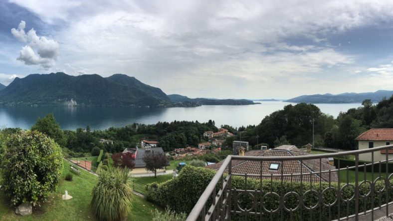 View of Lake Maggiore from hotel balcony apartment