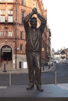 things to see in nottingham - the Brian Clough statue