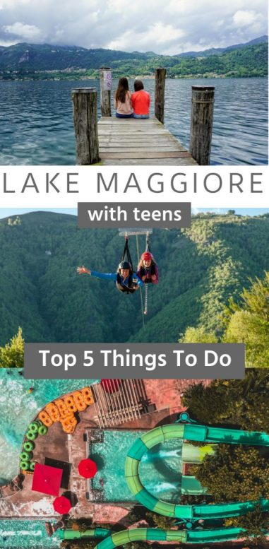 Lake Maggiore is the perfect family holiday destination in Europe. Thrilling sports and activities, amazing views, great food and fun water parks, all to keep the kids entertained. There is so much stuff to do near Lake Maggiore that no teen will be bored - I promise! #LakeMaggiore #italy #familyholiday #europe #northitaly