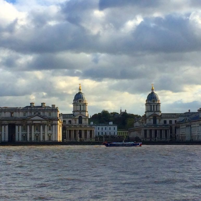 Greenwich view from the Thames in London