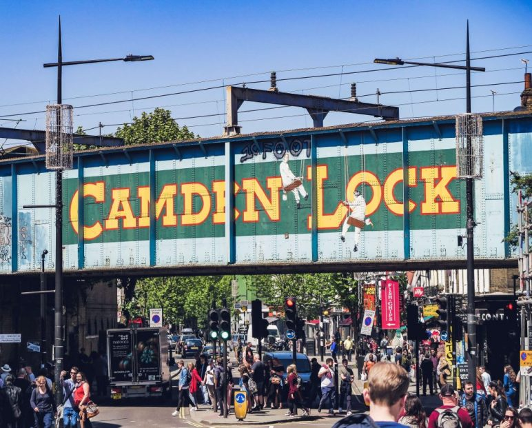 Camden Market is one of London's top tourist attractions and best food markets. It's a really cool area