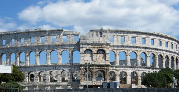 Pula's amphitheatre - something to see in Istria for sure
