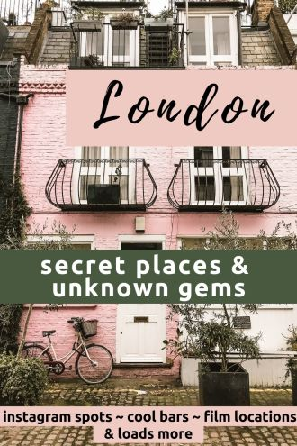 London hidden gems and secret places - beautiful hidden parks, secret bars, quirky attractions and things to do that no one else has heard of! #London #hidden gems #secret places