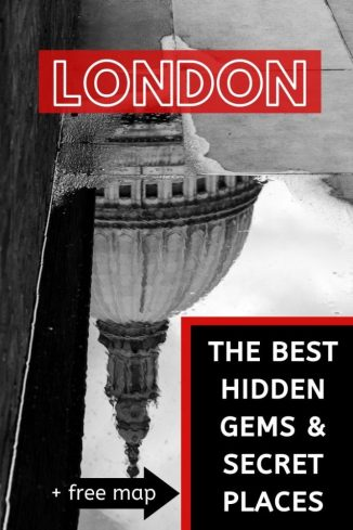 The top hidden gems and secret places of London with a free map so you can explore off the beaten path #london #londontravel #england #secretplaces #hiddengems #europe