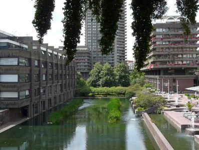 barbican centre in London - a quiet little spot