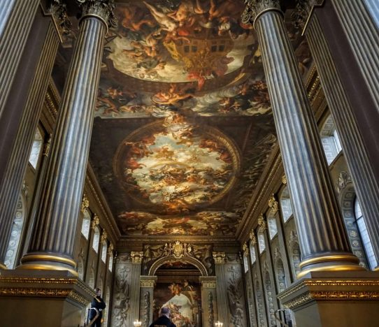 a real hidden gem of london but a real must see - the painted hall in greenwich