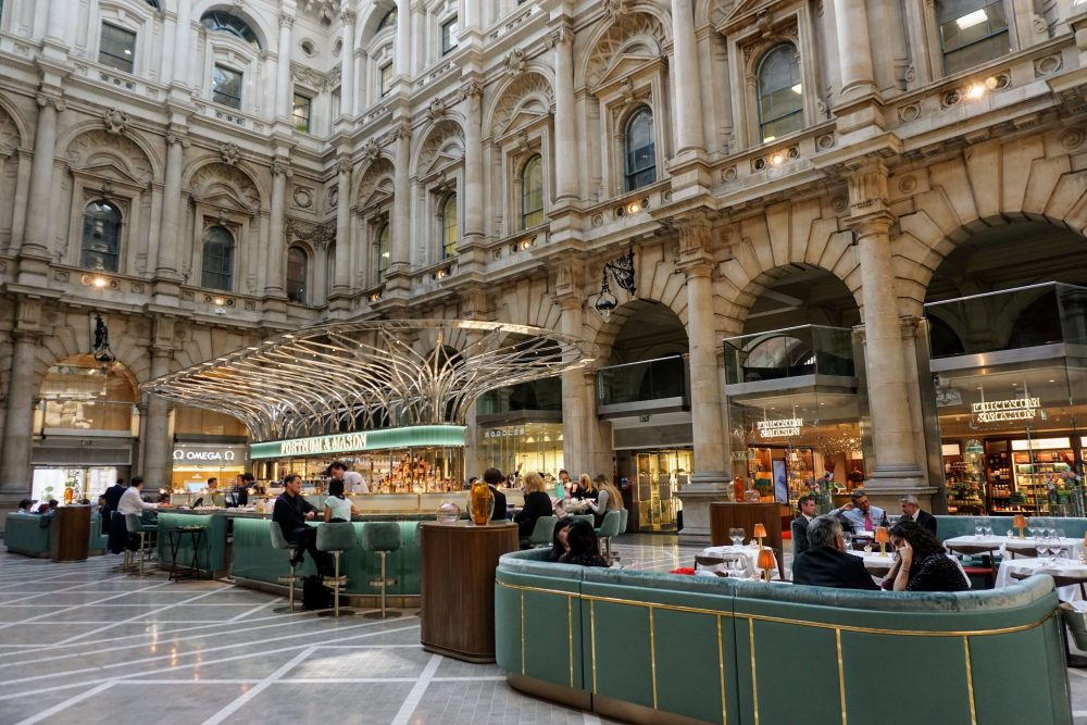 the royal exchange in Bank is a must see if you fancy a secret bar in one of London's most beautiful buildings