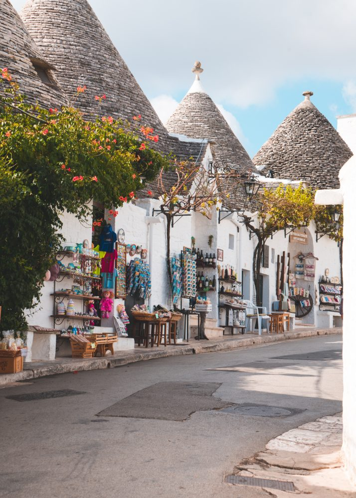 Alberobello, Puglia's top tourist destination and best place to visti. A unesco heritage site because of the trulli houses