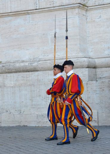 the swiss guard at the vatican in Rome