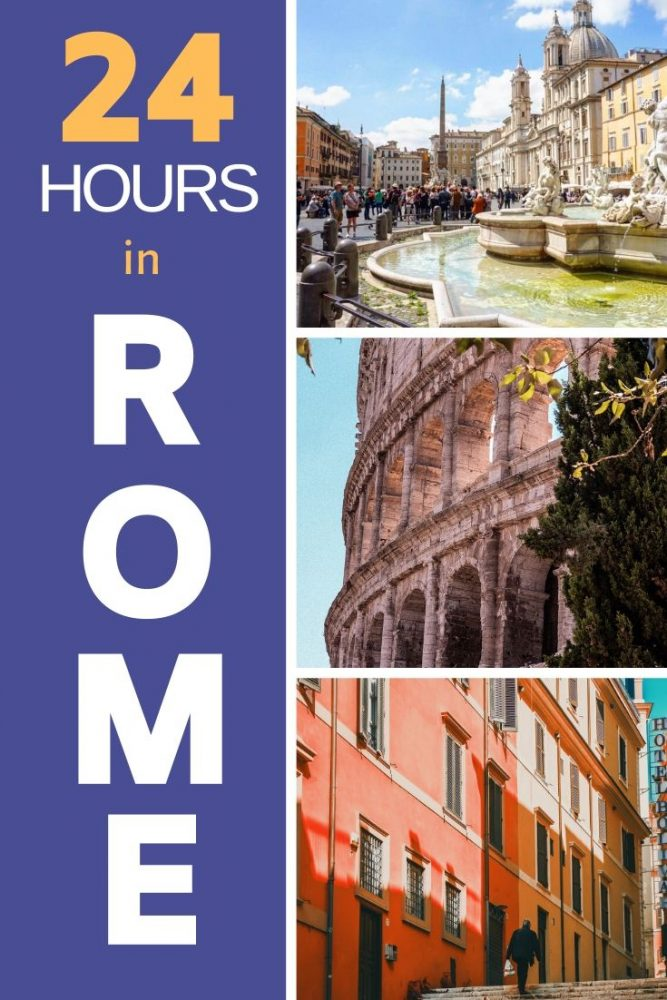 Ideas for things to do in Rome in one day - a 24 itinerary to cover it all and have the best time! #rome #italy