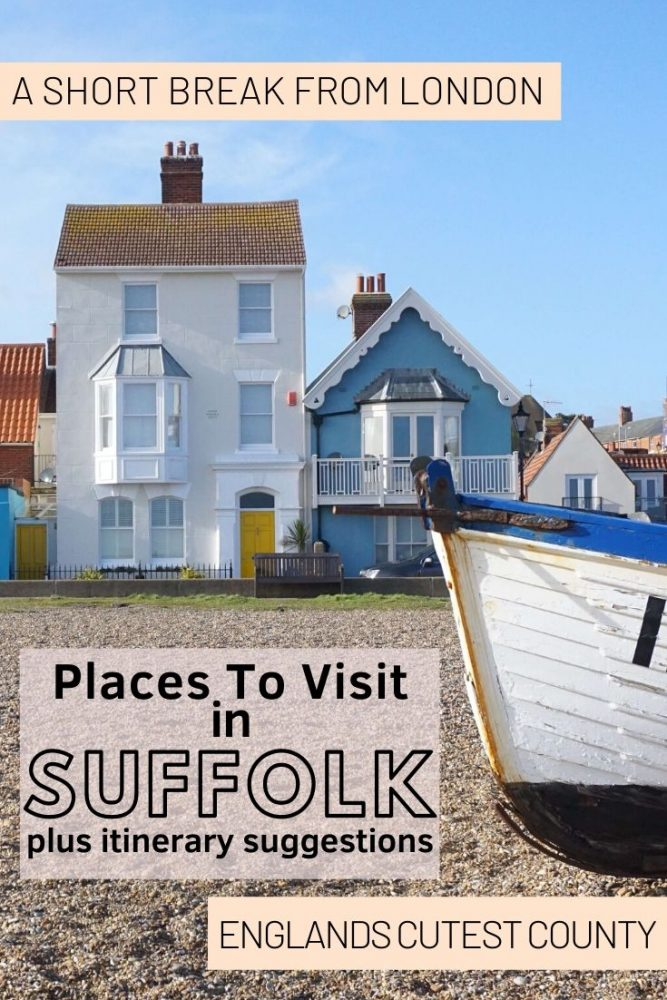 Travel Ideas for Suffolk, England.  There are so many cute places to visit in Suffolk including great beaches, pretty villages and amazing scenery - not to forget the traditional British country pub! We've got you covered in our Suffolk Guide. #Suffolk #England