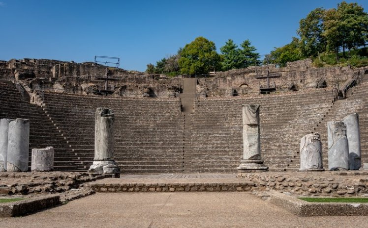 Places of interest in Lyon - the Roman amphitheatre