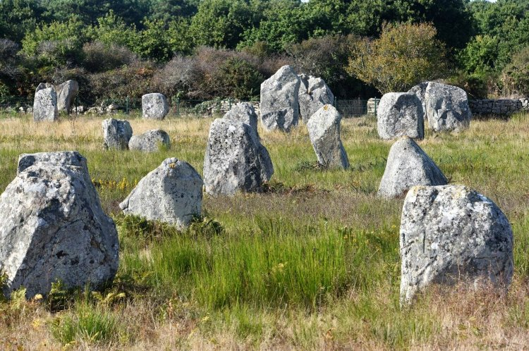 visiting the carnac stones France Brittany