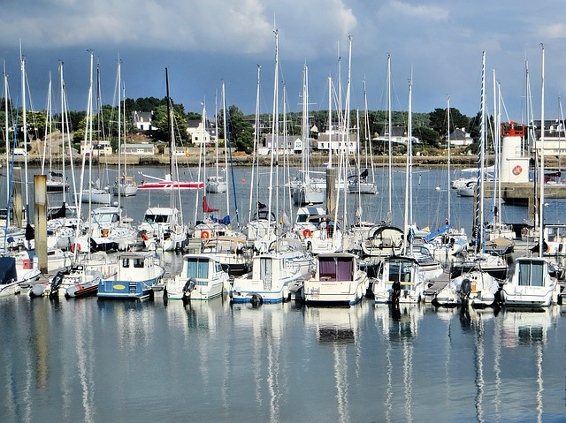 trinite sur mer - a port town of Brittany in France