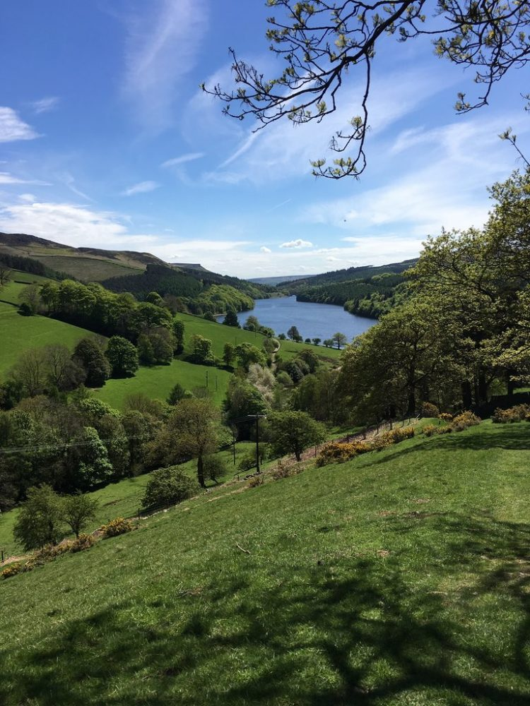 The best peak district walks in Derwent Water Ladybower, where they practiced the bouncing bomb