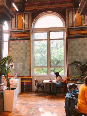 things to see in Leeds - the tiled cafe at the art museum