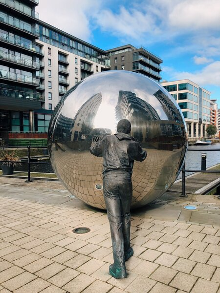 Leeds things to see - the art installations in the Dock area