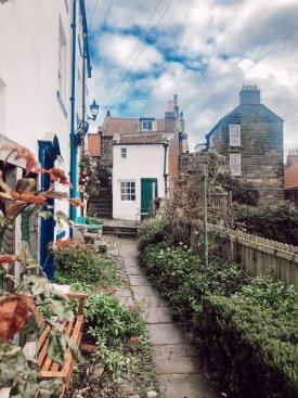fishing villages on east coast - Robin hoods bay, North Yorkshire, England.