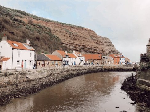 Staithes - a cute little fishing village on the North Yorkshire coast, England. UK