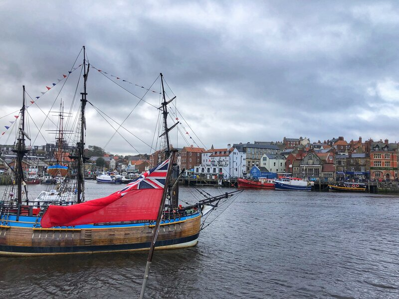 Whitby fishing village on the North Yorkshire coast