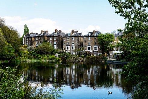 ponds at Hampstead Heath, London