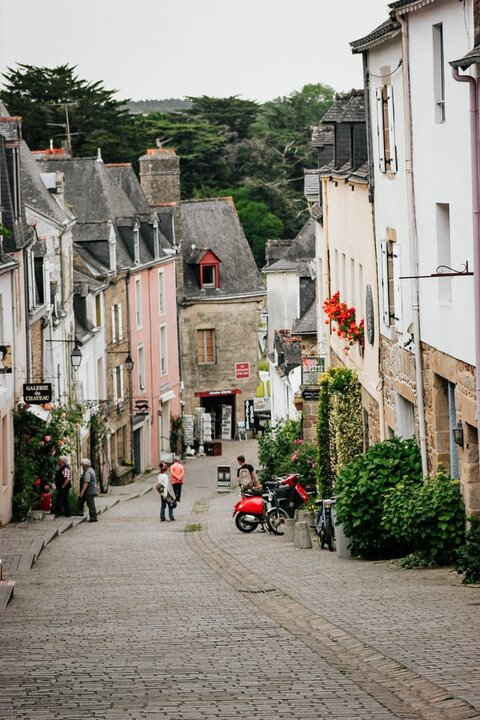 Auray, France. Brittany towns