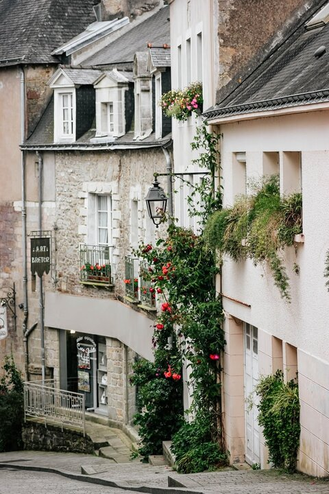 Auray, Brittany. France. Pretty town in Brittany