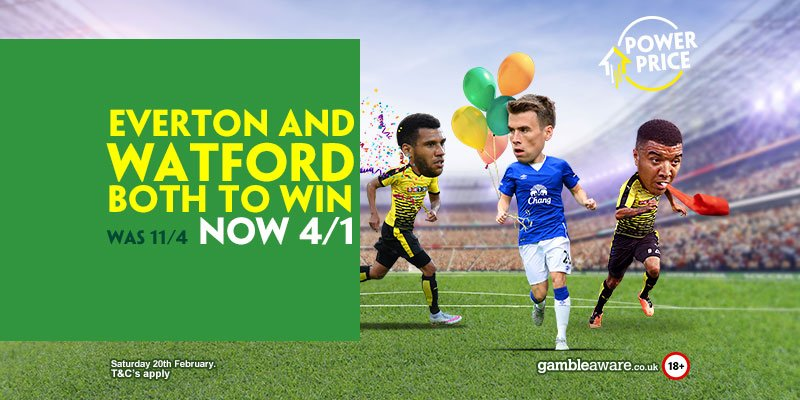 Paddy Power Watford Everton Price Boost