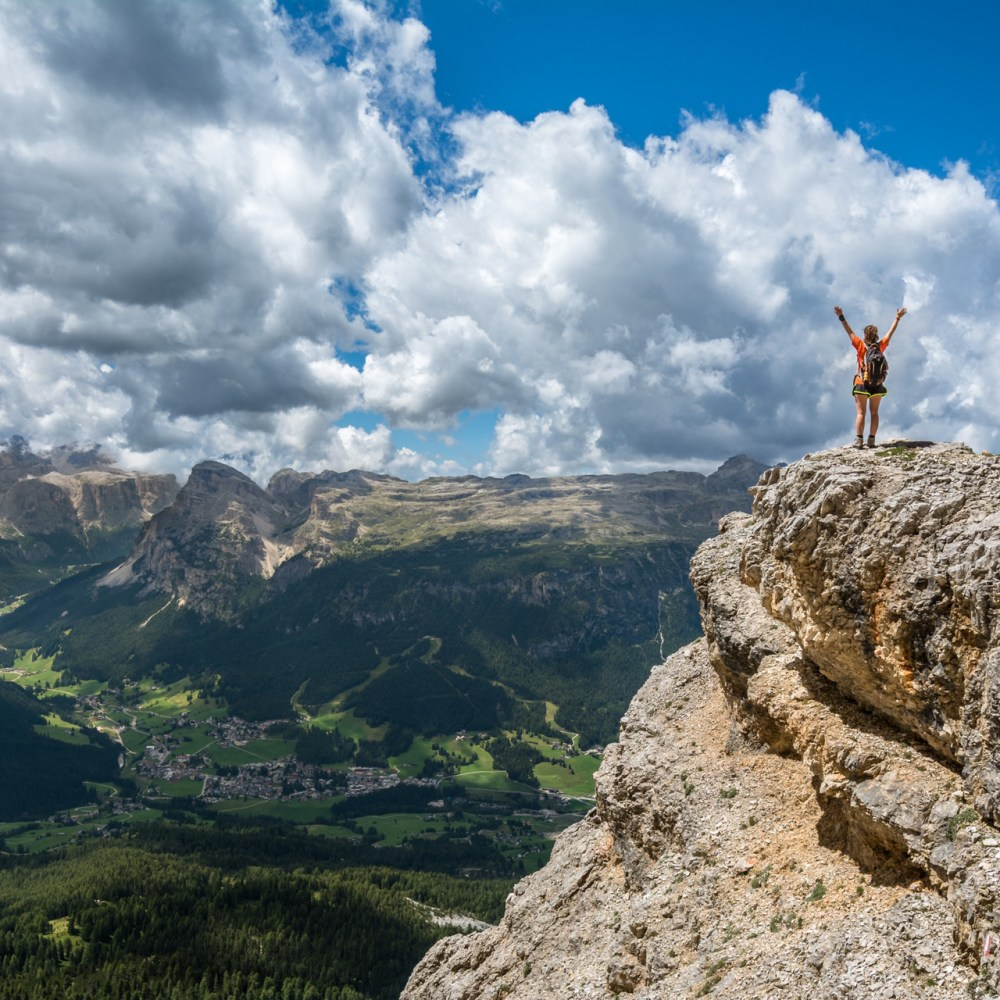 Reach Your Goals Girl on Mountain