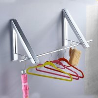 Instahanger Wall Mount Collapsible Clothes Hanging System ...